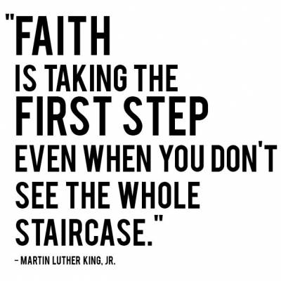Faith quote from Revd. MArtin Luther King Jnr.